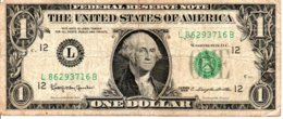 Billet 1 Dollar One Etats-Unis California 1963-12 L -Washingtone USA - California