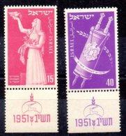 Israel Sellos Nº Yvert 51/52 ** - Nuevos (con Tab)