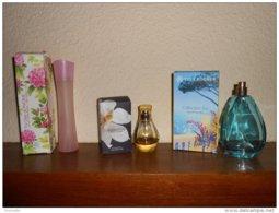 YVES ROCHER:  Pur Désir De Pivoine 60ml + So Elixir 30ml +edt Collection été 75ml Manque Bouchon Plastique (avec Boites) - Flacons (vides)