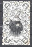 Très Belle Dentelle Dieu Et Les Pauvres Boisse Lebel N° 672 Donc éditée En 1854 - Images Religieuses