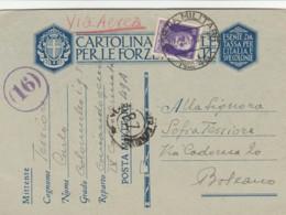 CARTOLINA FRANCHIGIA 1941 PM49 ITALIA GRECIA+50 PA (IX399 - Franchise