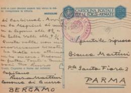 CARTOLINA FRANCHIGIA 1943 - ARMI E CUORI (IX504 - 1900-44 Vittorio Emanuele III