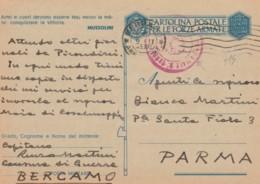 CARTOLINA FRANCHIGIA 1943 -ARMI E CUORI (IX508 - 1900-44 Vittorio Emanuele III