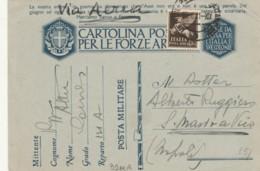 CARTOLINA FRANCHIGIA +C.50 PA -PM131A-LA NOSTRA ENTRATA (IX568 - 1900-44 Vittorio Emanuele III
