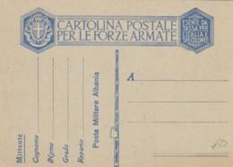 CARTOLINA FRANCHIGIA NUOVA ALBANIA (IX352 - 1900-44 Vittorio Emanuele III