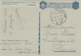 CARTOLINA FRANCHIGIA PM67 1942 -ARMI E CUORI (IX493 - Franchise