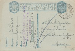 CARTOLINA FRANCHIGIA PM109 GRUPPO MILIZIA LIBIA ORIENTALE 1941 (IX573 - Franquicia