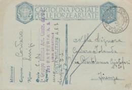 CARTOLINA FRANCHIGIA PM109 GRUPPO MILIZIA LIBIA ORIENTALE 1941 (IX573 - 1900-44 Vittorio Emanuele III