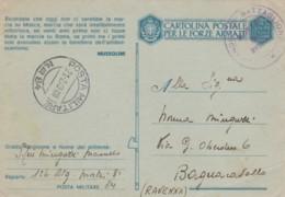 CARTOLINA FRANCHIGIA PM 84 TIMBRO RICORDATE (IX468 - 1900-44 Vittorio Emanuele III