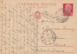 INTERO POSTALE C.75 1939 TIMBRO MERANO LENO BOLZANO BRESCIA (IX570 - 1900-44 Vittorio Emanuele III