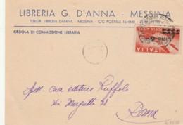 LETTERA PA 1948 L. 6 SS -LIBRERIA D'ANNA MESSINA (IX451 - 6. 1946-.. República