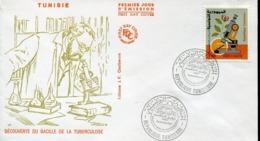 47294 Tunisie   Fdc  1982 TBC  Robert Koch,  Nobel Prize Prix Nobel,  Microbiology - Prix Nobel