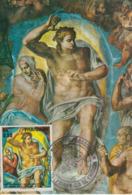 Carte-Maximum PARAGUAY N°Yvert 1450 / Michel Ange / Le Sauveur (détail) - Paraguay