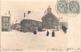 Carte-photo De PONTARLIER (Doubs) - La Place Des Casernes Le 25-02-1906. Postée à Pontarlier-Gare Le 26-02-1906 - Pontarlier