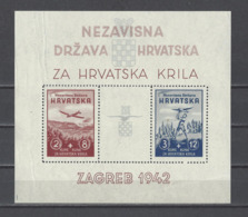CROATIE.  YT  Bloc N° 1-2  Neuf **  1942 (voir Scan) - Croatie