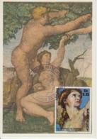 Carte-Maximum PARAGUAY N°Yvert 1448 / Michel Ange / Le Péché Originel - Paraguay