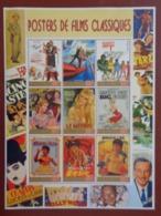 GABON 2006 BLOC 9 TIMBRES DENTELES - POSTERS DE FILMS CLASSIQUES - Gabon (1960-...)