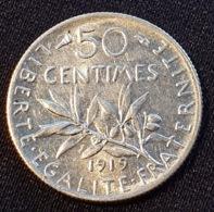 FRANCE 50 CENTIMES 1919 - G. 50 Centimes