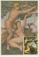 Carte-Maximum PARAGUAY N°Yvert 1445 / Michel Ange / Le Péché Originel - Paraguay
