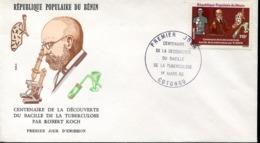 47305  Benin    Fdc  1982 TBC  Robert Koch,  Nobel Prize Prix Nobel,  Microbiology - Nobelprijs