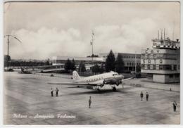 AEREO PLANE AICRAFT MILANO AEROPORTO FORLANINI - CARTOLINA SPEDITA NEL 1952 - Aerodromi