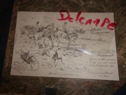TRES RARE CARTON INVITATION VENERIE 1882 ABBEVILLE LE DRAG  RDV AU PLESSIEL LITH PAILLART BARON D APPLAINCOURT.... - Equitation
