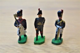 J.S.B. JSB, Waterloo Napoleon And 2 French Soldiers, Made In Belgium, Vintage, Lot - Small Figures