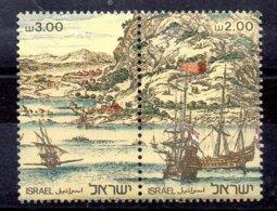Israel Sellos De Hoja Nº Yvert 769/70 ** BARCOS (SHIPS) OFERTA (OFFER) - Israel