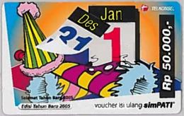 PREPAID PHONE CARD-INDONESIA (E46.46.5 - Indonesia