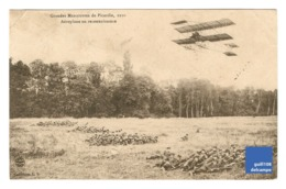 Carte Postale Ancienne Grandes Manoeuvres De Picardie 1910 Somme Aéroplane En Reconnaissance Militaria Aviation 1CP9 - France
