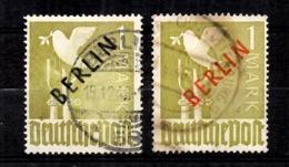 Berlin YT N° 17 Surcharges Rouge Et Noire Oblitérés. Signés Schlegel. B/TB. A Saisir! - [5] Berlín