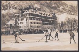 CPA  Suisse, KANDERSTEG, Grand Hotel Victoria, Ice Hockey Match, Carte Photo, 1927 - BE Berne