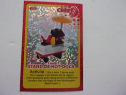 Carte LEGO AUCHAN CREE TON MONDE N° 123 Stand De Hot-dogs - Autres