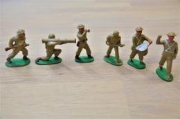 J.S.B. JSB, WW2, 6 British Infantry + Music Parade, Made In Belgium, Vintage, Lot - Figurines