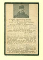 Doodsprentje Raymond Georges De Caluwe  - Sint-Lodewijk Deerlijk / Amersfoort   - Gesneuvelde / Soldaat WO1 WW1 - Décès