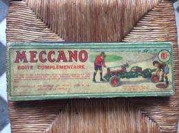 BOITE MECCANO  00A  Boite Complémentaire  6 ÉLÉMENTS CARTON  Années 1930 - Meccano