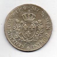 FRANCE, 1 Ecu, 1768, Silver, KM #47.1 - 987-1789 Royal