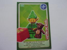 Carte LEGO AUCHAN CREE TON MONDE N°18 Lytin De Noël Leprechaun Christmas Wichtel Weichnachten Diablillo - Autres Collections