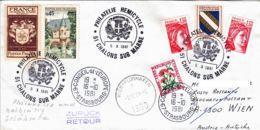 FRANCE - 1981 - Conseil De L'Europe - Lettre De Chalons/Marne Pour Vienne Puis Strasbourg En Poste Restante - - Covers & Documents