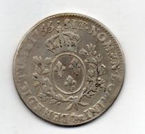 FRANCE, 1 Ecu, 1755, Silver, KM #47.30 - 987-1789 Royal