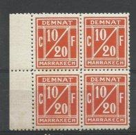 Maroc 1891 Poste Locale Demnat  à Marrakech N° 1A, Bloc De 4 Cote YT 40€ - Marruecos (1891-1956)