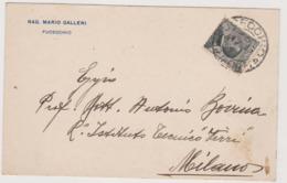 Fucecchio (FI)  Cartolina Commerciale Rag. Mario Galleni   - F.p. -  Anni '1920 - Firenze (Florence)