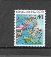 2840  OBL  Y & T   Avec Flamme De J.M Thiriet  « Aux Plaisirs D'écrire »  15A/26 - Francia