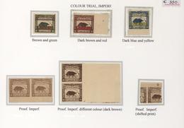 Indonesien - Vorläufer: Java, 1945, Buffalo 10 S., Colour Trial And Proof Printngs, Singles (3), Pai - Indonesien