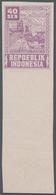 Indonesien - Vorläufer: Java, 1946, Revolution Series, 40 S. Port In Violet, Imperforated With Large - Indonesien