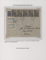 Indonesien - Vorläufer: Java, 1949, Surakarta Raid, Local Stamp On Cover: 15 S. Blue, A Vertical Pai - Indonesien