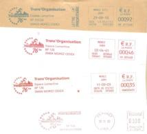 """2000/2010 4 EMA """"la Transjurassienne"""" Ski De Fond ( N° NL 37069  VA 005408  VBW 000693   MF 911268 ) - Ski"""