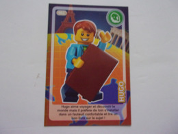 Carte LEGO AUCHAN CREE TON MONDE N°2 Hugo - Autres Collections