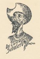 Ex Libris Julio Cesar Salvatierra (houtsnede Don Quichote) - Exlibris