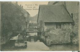 Haguenau (Hagenau) 1919; Partie Am Schmalen Brückel - Geschrieben. (W. Springer Söhne - Strassburg) - Haguenau